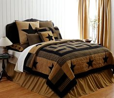 Country and Primitive Bedding, Quilts - Delaware Bedding by VHC Brands - Country Decor, Primitive Decor, Bedding, Braided Rugs