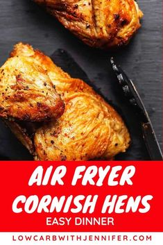 Air Fryer Cornish Hens is a gourmet dinner, straight out of the Air Fryer! Crispy outside and tender and juicy inside makes this the perfect recipe for those fancier family gatherings or just a weekday meal! Faster/easier than oven-roasted and pack Air Fryer Recipes Appetizers, Air Fryer Recipes Vegetarian, Air Fryer Recipes Vegetables, Air Fryer Recipes Snacks, Air Fryer Recipes Low Carb, Air Fryer Recipes Breakfast, Cooking Recipes, Healthy Recipes, Cooking Tips