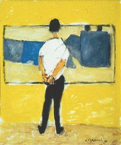 """Jozef Czapski """"Chłopak przed de Staëlem"""", 1981"""