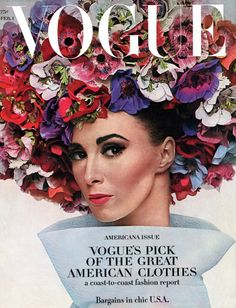 """This was one of Audrey's favorite covers of the American Vogue:    Model Wilhelmina Cooper wearing a hat of Halston and photographed by Irving Penn for the American Vogue, edition of February 1964.    """"Mrs. Audrey Hepburn said that this photo and this hat were not only a fashion production, and yes, a True Work of Art!"""""""