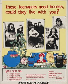 Poster, 'These teenagers need homes. Could they live with you?', screen print on paper, maker unknown, Sydney, New South Wales, Australia, 1972-1979
