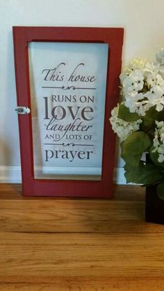 Repurposed Glass Cabinet Door With Quote. Made My La Vie En Rose Of  Huntsville,