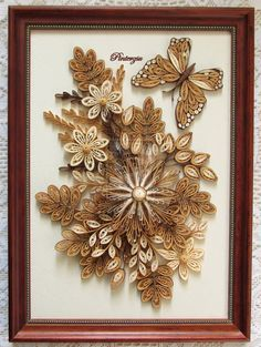 Quilled flowers with butterfly by pinterzsu on DeviantArt