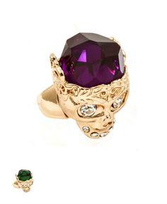 Skull Ring. Also available in Emerald. www.shopsassygirls.com Instagram: shopsassygirls