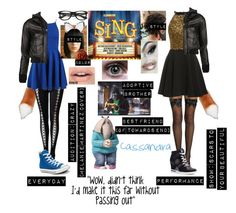 """""""+Me in Sing+"""" by blissfull-darkness on Polyvore featuring Versace, R13, Converse, ZeroUV and Tommy Hilfiger"""