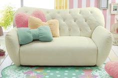 Those pillows could be super cute in a girl nursery! <3