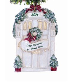 Hey, I found this really awesome Etsy listing at https://www.etsy.com/uk/listing/109864768/personalized-front-door-ornament-new