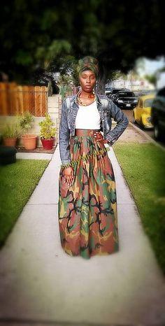 Hebrew Camo Skirt
