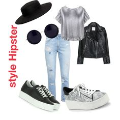 Style Hipster by una-pulkstene on Polyvore featuring moda, Athleta, MANGO, Paige Denim, Ash, Piccadilly, VIVETTA and The Row