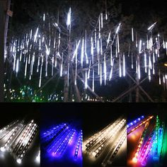 New Year 30cm 50cm Outdoor Meteor Shower Rain 8 Tubes Led String Lights Waterproof For Christmas Wedding Party Decoration Rapid Heat Dissipation Led String