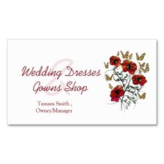 Wedding Shop Business Cards.