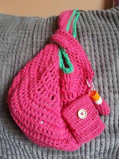 Jo Clark Crochet Stroller Bag Pattern  ☀CQ #crochet #crafts #DIY