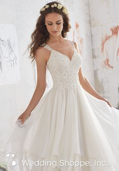 Blu by Mori Lee Bridal Gown Mary / 5512, $1199, Chiffon, A Line,