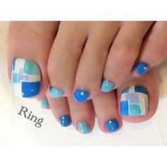 blue nail santorini 青 ブルー ネイル サントリーニ島