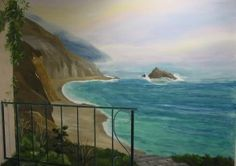 Painting Beach Theme Wall Mural