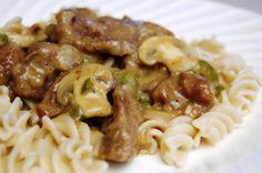 Beef Stroganoff for Noodles