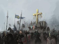 crusade by morkarr on DeviantArt Medieval Knight, Medieval Art, Medieval Fantasy, Fantasy Rpg, Dark Fantasy, Knights Templar History, Crusader Knight, Christian Warrior, Armadura Medieval