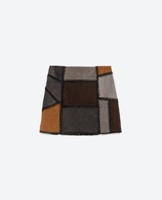 Image 8 of PATCHWORK LEATHER MINI SKIRT from Zara