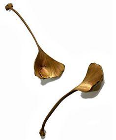 Ginko Leaf Salad Spoons