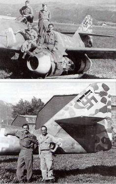me 262 white 1 at innsbruck 1945