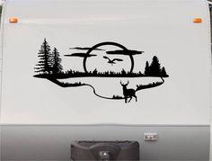 Mountains Motorhome Stripe Kit - Lake RV Stickers - Trailer Stickers- Camper Vinyl Decal- Sticker Graphic- Motorhome Decals- RV Stripe Kit-