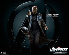 Samuel L. Jackson as Nick Fury - The Avengers Avengers Movies, Marvel Characters, Fictional Characters, Marvels Agents Of Shield, Avengers Wallpaper, Nick Fury, Movie Props, Marvel Cinematic Universe, Dc Universe