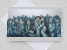 Glückwunschkarte Engel silberne Schutzengel von AtelierDorotheaKoch