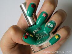 ufo, galaxy, star, stars, studs, green, colorful, nails, nailart, nail art, manicure
