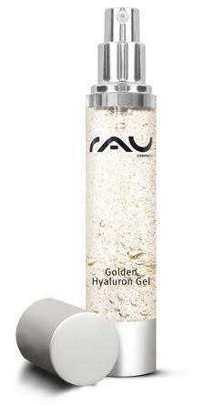 Das RAU Golden Hyaluron Gel verzichtet vollständig auf Mineralöl und Parabene und enthält Gold, Panthenol, Jujube und Hyaluronsäure > http://www.rau-cosmetics.de/wirkstoff-info/panthenol/rau-golden-hyaluron-gel-50-ml-luxurioese-hautpflege-mit-23kt-gold-jujube-hyaluronsaeure