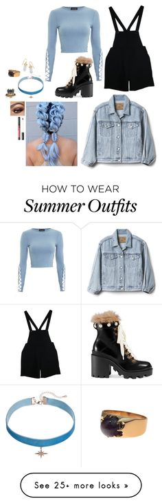 """Outfit"" by gabymyredis on Polyvore featuring Topshop, American Apparel, Gucci, Gap, LC Lauren Conrad, BillyTheTree and Alexander McQueen"