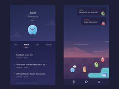 Chat Room Conversation Page by Ghani Pradita