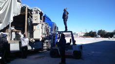 Φόρτωση μηχανημάτων με κλαρκ (γερανοι κλαρκ θεσσαλονικη 6932428329)