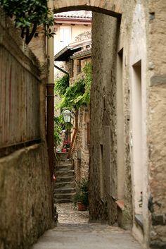 Narrow, Ancient Passage  - Ticino, Switzerland