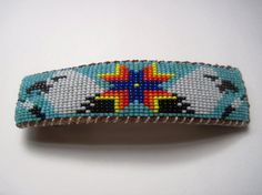 Four Directions Beaded Eagles Barrette by pachamamanativeart, $20.00