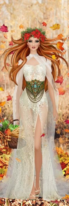 Red Hair Woman, Covet Fashion Games, Barbie, White Dress, Princess Zelda, Glamour, Beige, York, Female