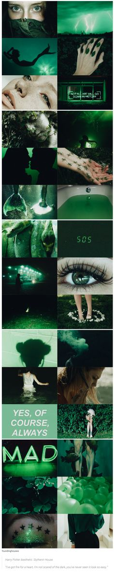 "Harry Potter Aesthetic: Slytherin House | ""I've got fire for a heart, I'm not scared of the dark, you've never seen it look so easy."""