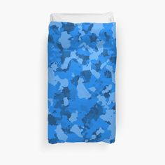 'Blue Camo design' Duvet Cover by MidnightBrain Camo Designs, Blue Camo, Duvet Bedding, College Dorm Bedding, Bed Covers, Duvet Insert, King Size, Bedroom Decor, Printed