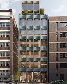 """SJB on Instagram: """"Another pic of our proposal for 52 Reservoir Street depicting the 'gap'.The gap allows the viewer to comprehend the space; its history and…"""" Hotel Architecture, Australian Architecture, Commercial Architecture, Architecture Design, Glass Building, Building Facade, Modern Colonial, House Front Design, Facade Design"""