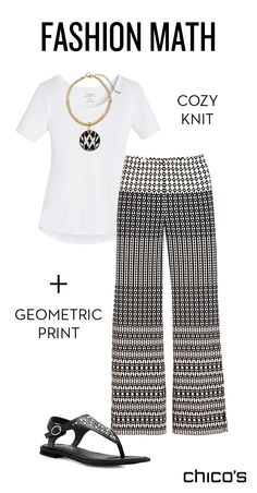 = a cool & comfy outfit for summer days & nights. Just add black flats and a bold necklace and go.