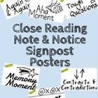 These posters are inspired by the hit Close Reading book Note and Notice by Beers and Probst.  These 11x17 PDF posters can be printed in black and ...