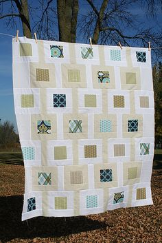 Modern Meadow Baby Quilt by freshlypieced, via Flickr