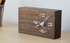 Tomasz Wojnar is raising funds for WoodTime: Simple, modern & minimal bare wood clocks. on Kickstarter! Minimal, modern and raw. Art and function combined in bare wood analog clocks. Wooden Clock, Wooden Art, Wood Projects, Woodworking Projects, Cool Clocks, Diy Clock, Wooden Watch, Into The Woods, Wooden Pallets