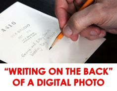 You are conscientious about writing on the back of a photo print. But what do you do with your digital photos?
