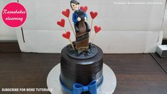 easy simple unique birthday chocolate cake decoration designing ideas fo... Birthday Cake For Brother, 30th Birthday Cakes For Men, Cartoon Birthday Cake, Animal Birthday Cakes, Frozen Birthday Cake, Cool Birthday Cakes, Male Birthday, 21st Birthday, Cake Decorating For Beginners
