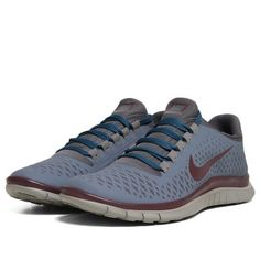 Nike x Undercover GYAKUSOU Free 3.0 V4 (Blue Dusk, Deep Burgundy & Dark Grey)