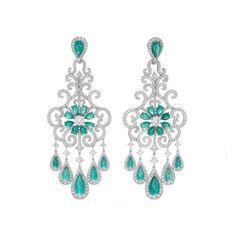 Chopard Red Carpet collection Paraiba tourmaline earrings