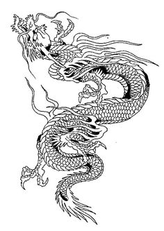 Coloriage Dragons chinois !