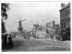 WW2 in the Netherlands - Rotterdam May 14th 1940 - Oostzeedijk.