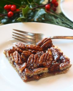 """√ """"T&T"""" -- Paleo Pecan Bars -- Absolutely Delish! -- This is up there with my all-time favorite Primal Desserts. -- New link. Old one doesn't work anymore."""