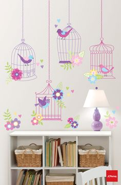 Don't cage your style in! Easy-to-position wall decals are a chirpy way to brighten your room.